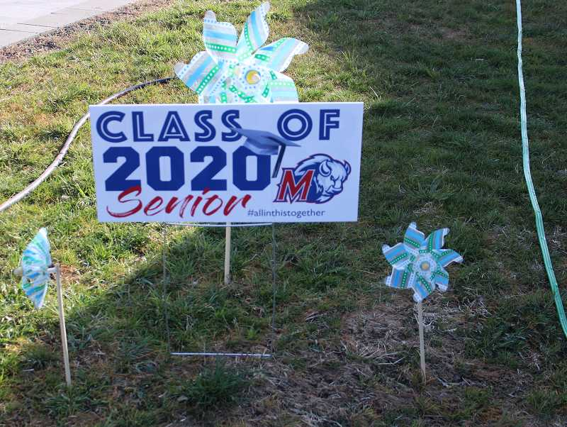 A lawn sign to honor graduating seniors in Jefferson County, who were unable to take part in an in-person graduation ceremony.