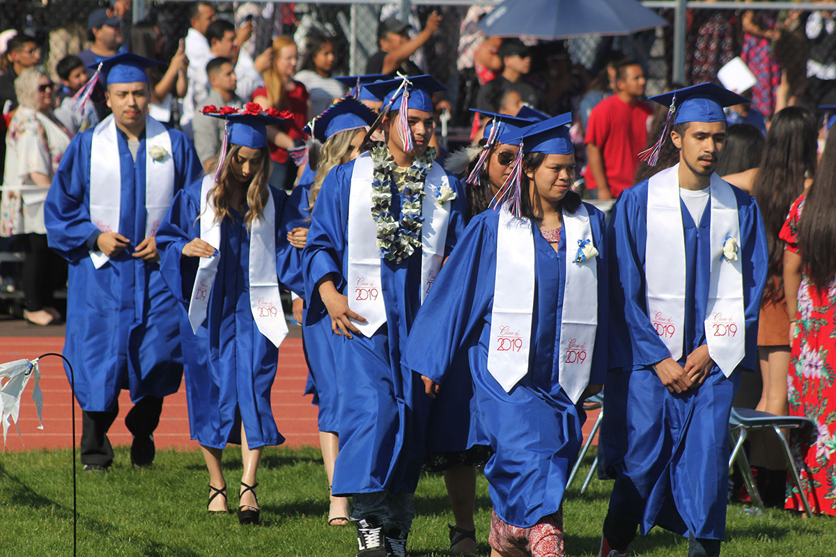 Students graduating from Bridges High School