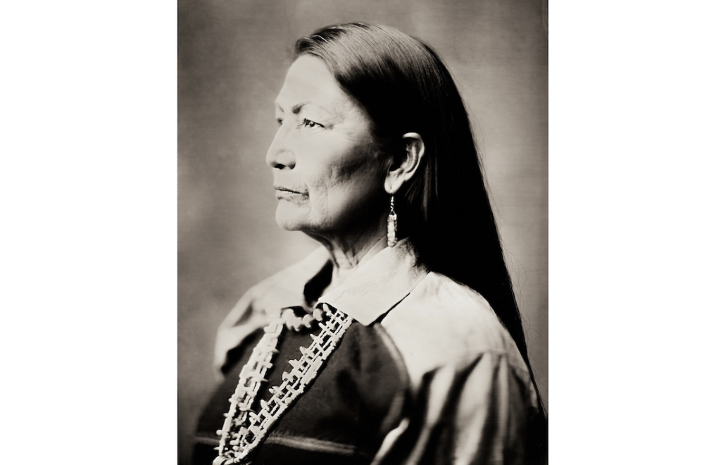 Wet Plate Collodion Image of Deb Haaland by Shane Balkowitsch