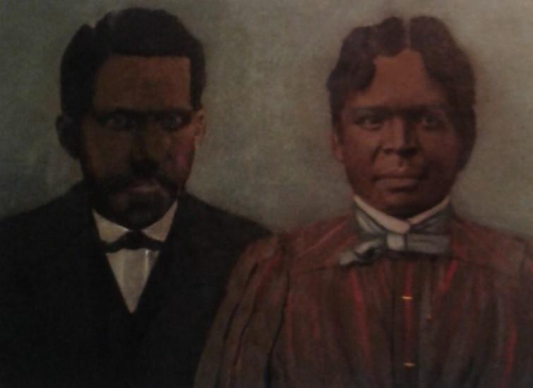 Portrait of Sam and Sallie Walton, great-grandparents of Angela Walton-Raji