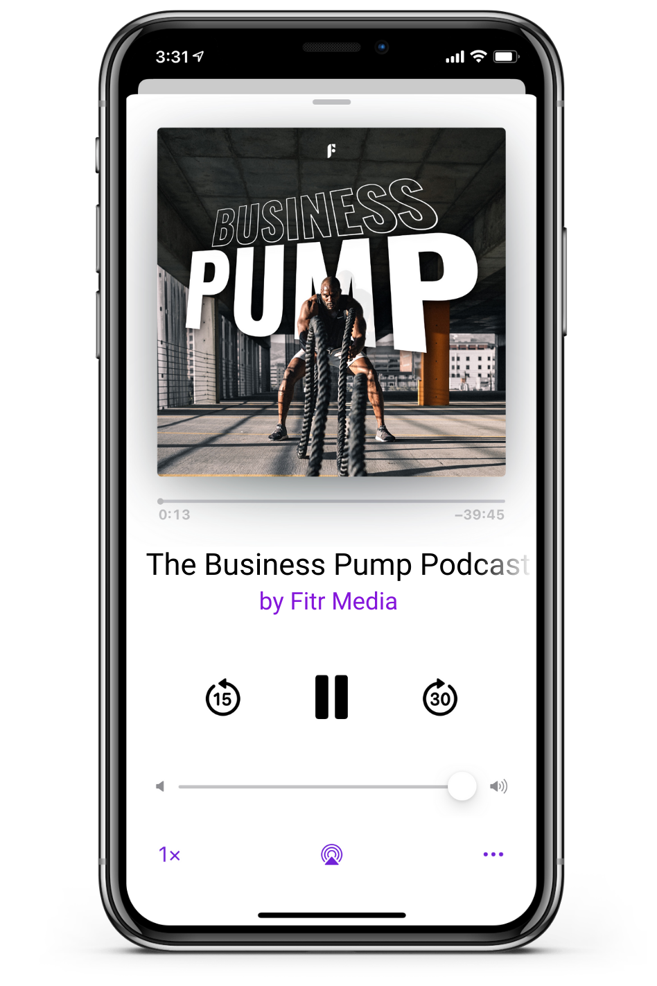 Business Pump podcast on iPhone