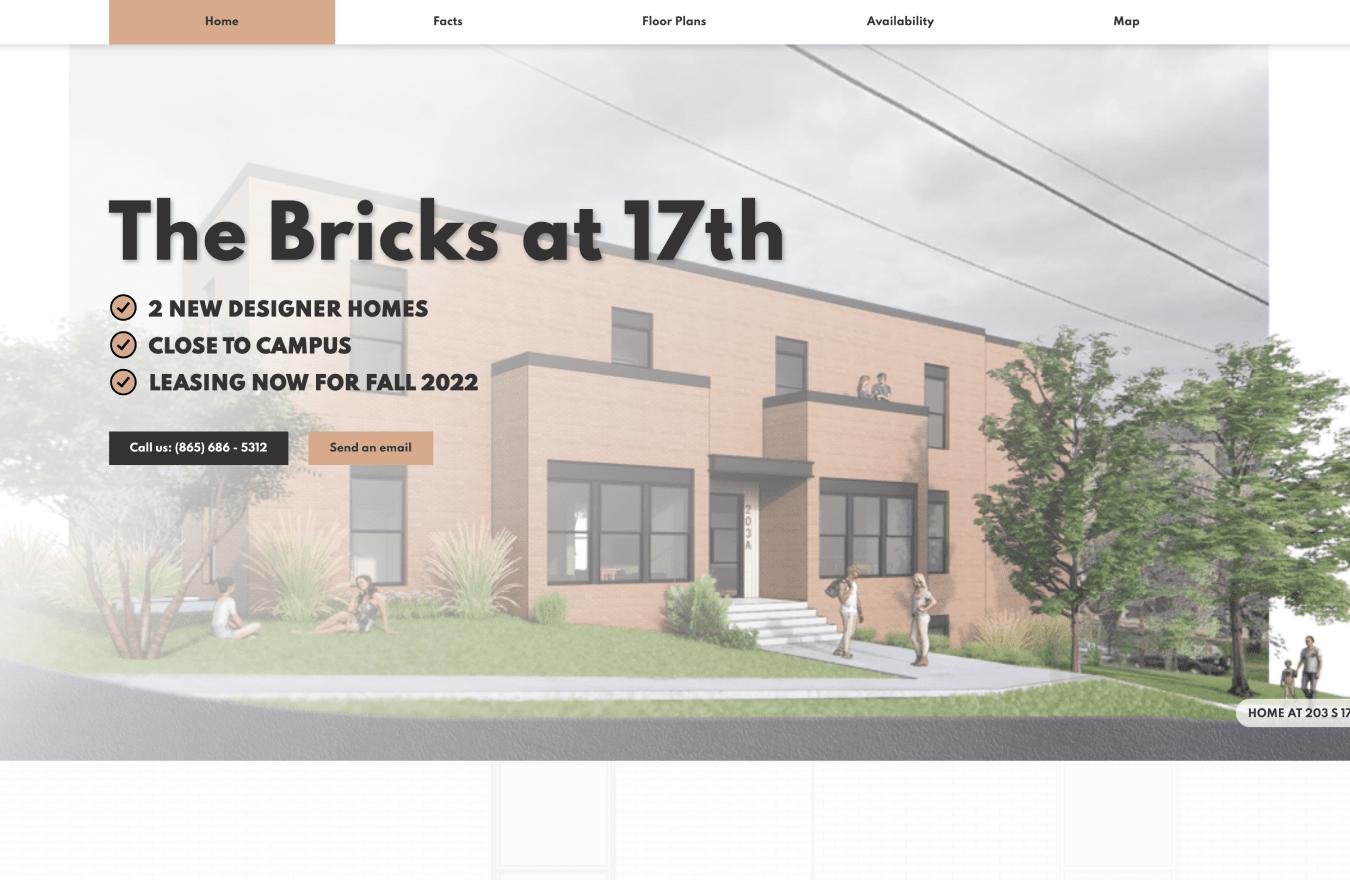 Bricks 17 website screenshot