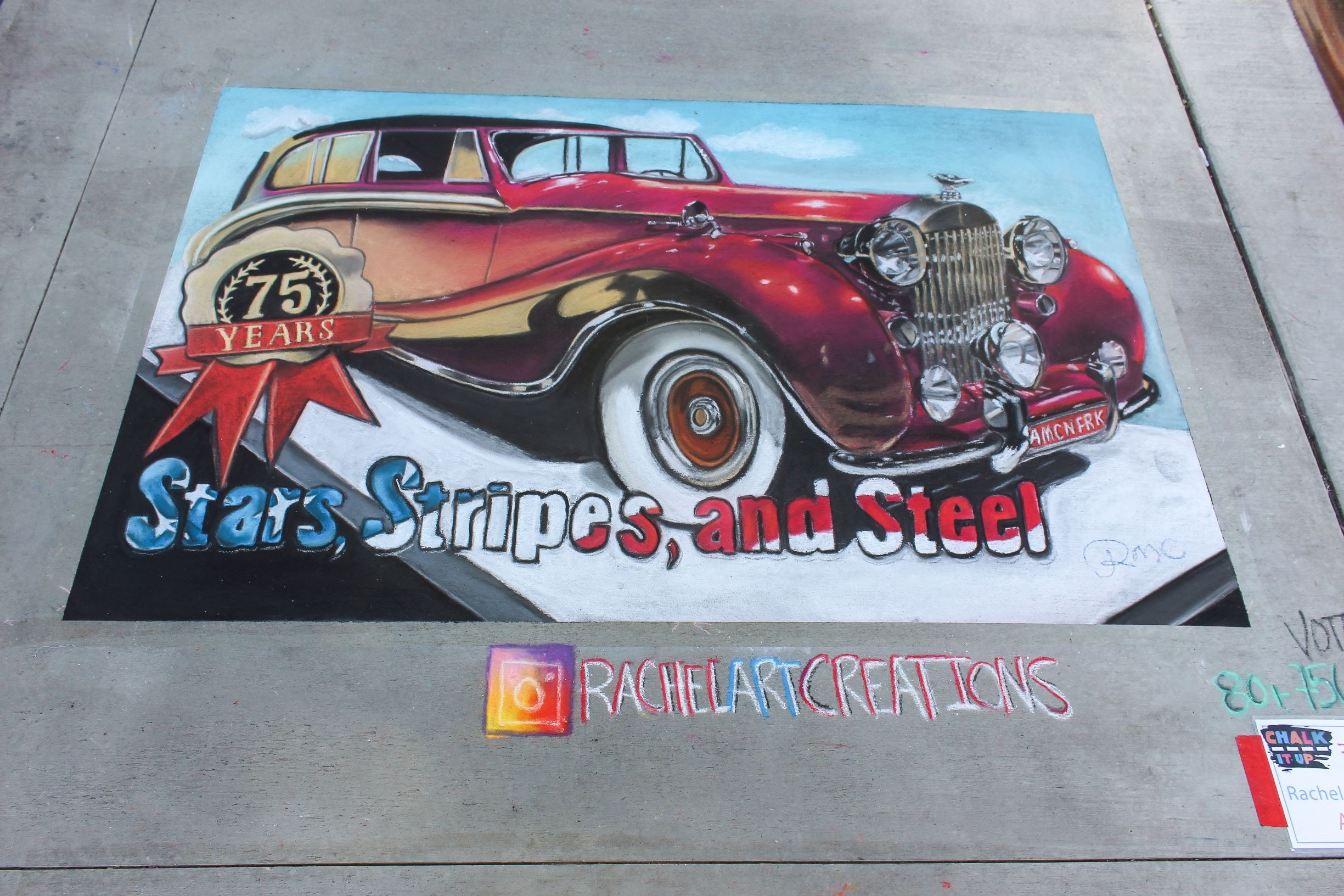 Classic car, in celebration of 75 years of American fork steel days