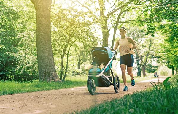 Stroller Running with baby