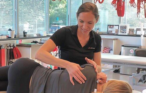 Adrienne Jensen. Shoulder trigger point massage