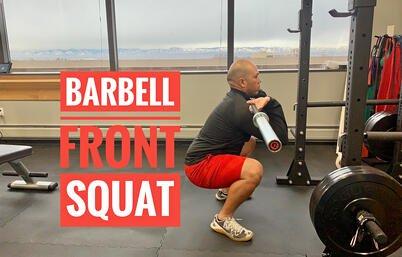 Gavin. Barbell Front Squat. edited