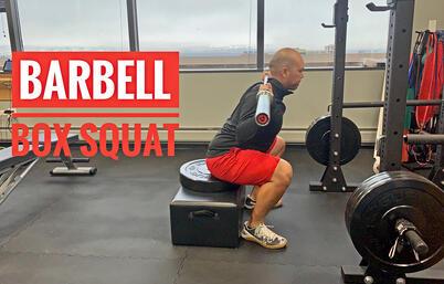 Gavin. Barbell box squat