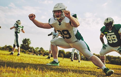 Football linebacker