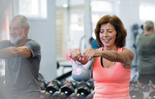 Kettlebell training for seniors
