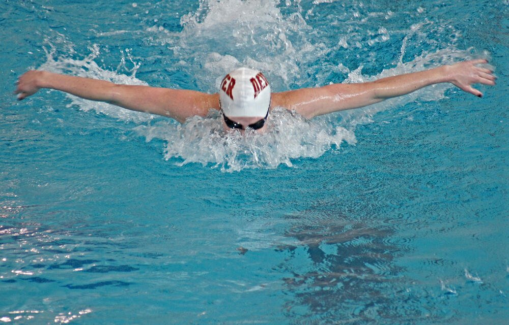 Tia Totura. Swimming at University of Denver