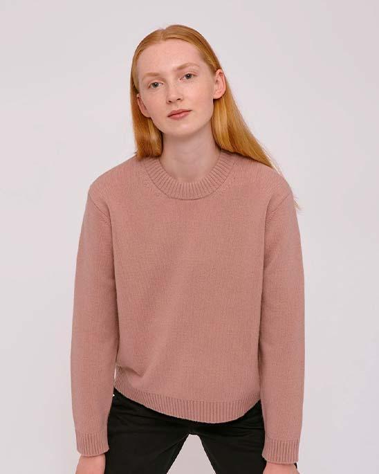 Organic Basics — Womens recycled wool boxy knit