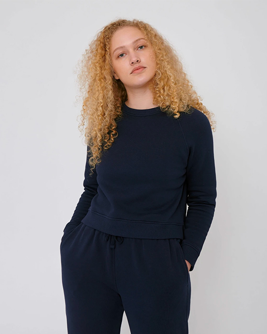 Organic Basics — Womens cropped sweat