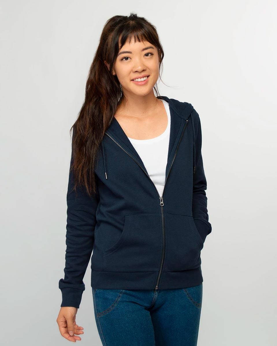 Honest Basics — Womens zip hoodie