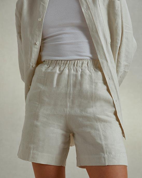 Riley Studio — Linen pocket shorts