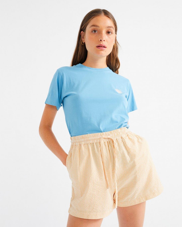 Thinking MU — Seersucker geranio shorts