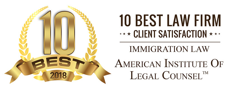American Institute of Legal Counsel - 10 Best Law Firm for Client Satisfaction - Immigration Law