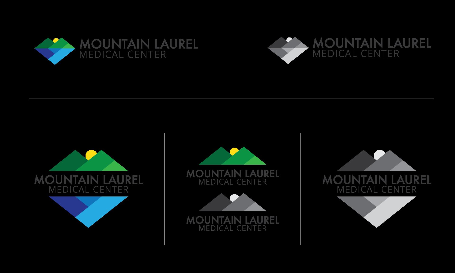 Mountain Laurel Medical Center logo variations