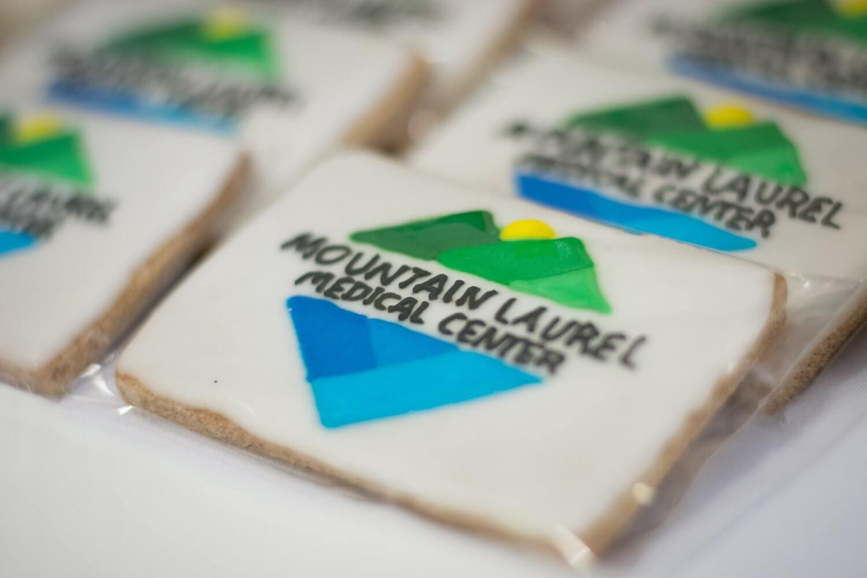 Mountain Laurel Medical Center logo cookies