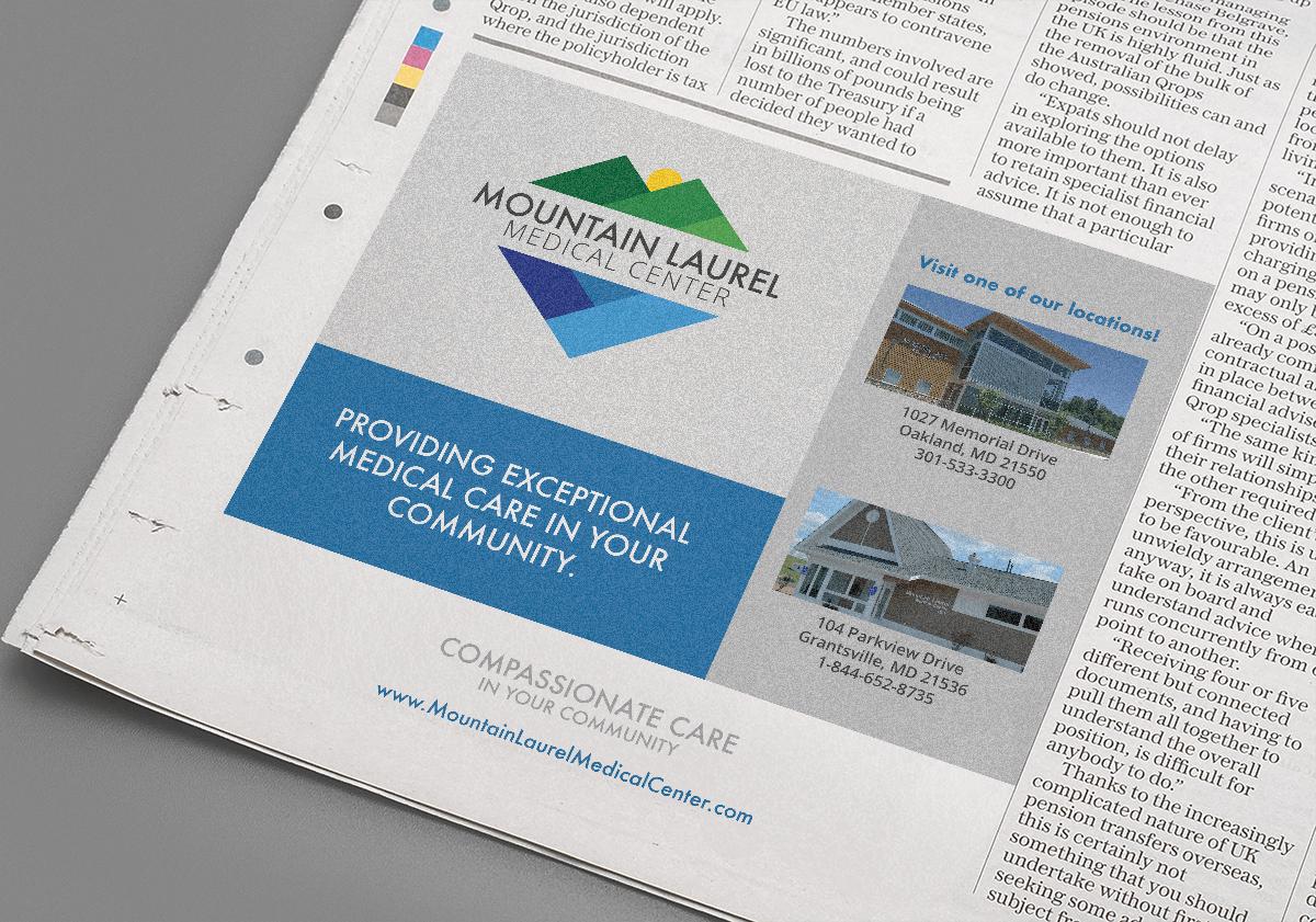 Mountain Laurel Medical Center newspaper ad