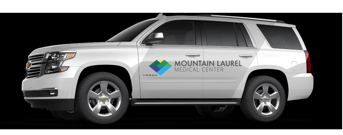 Mountain Laurel Medical Center vehicle mockup