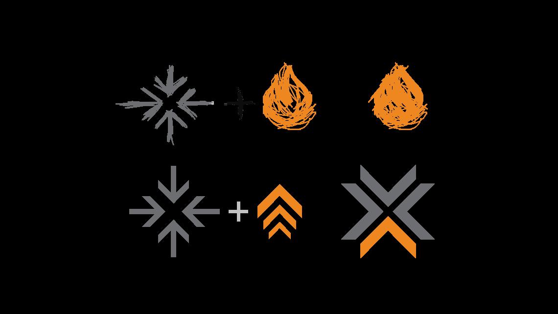 Pramantha Solutions logo design progression