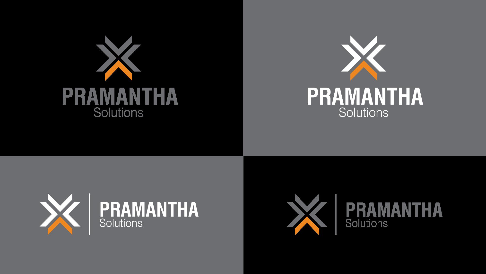 Pramantha Solutions logo variations