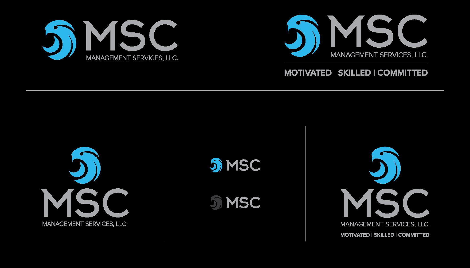 MSC Management Services logo variations