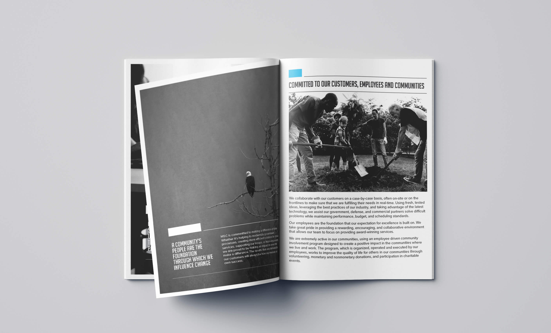 MSC Management Services brochure mockup
