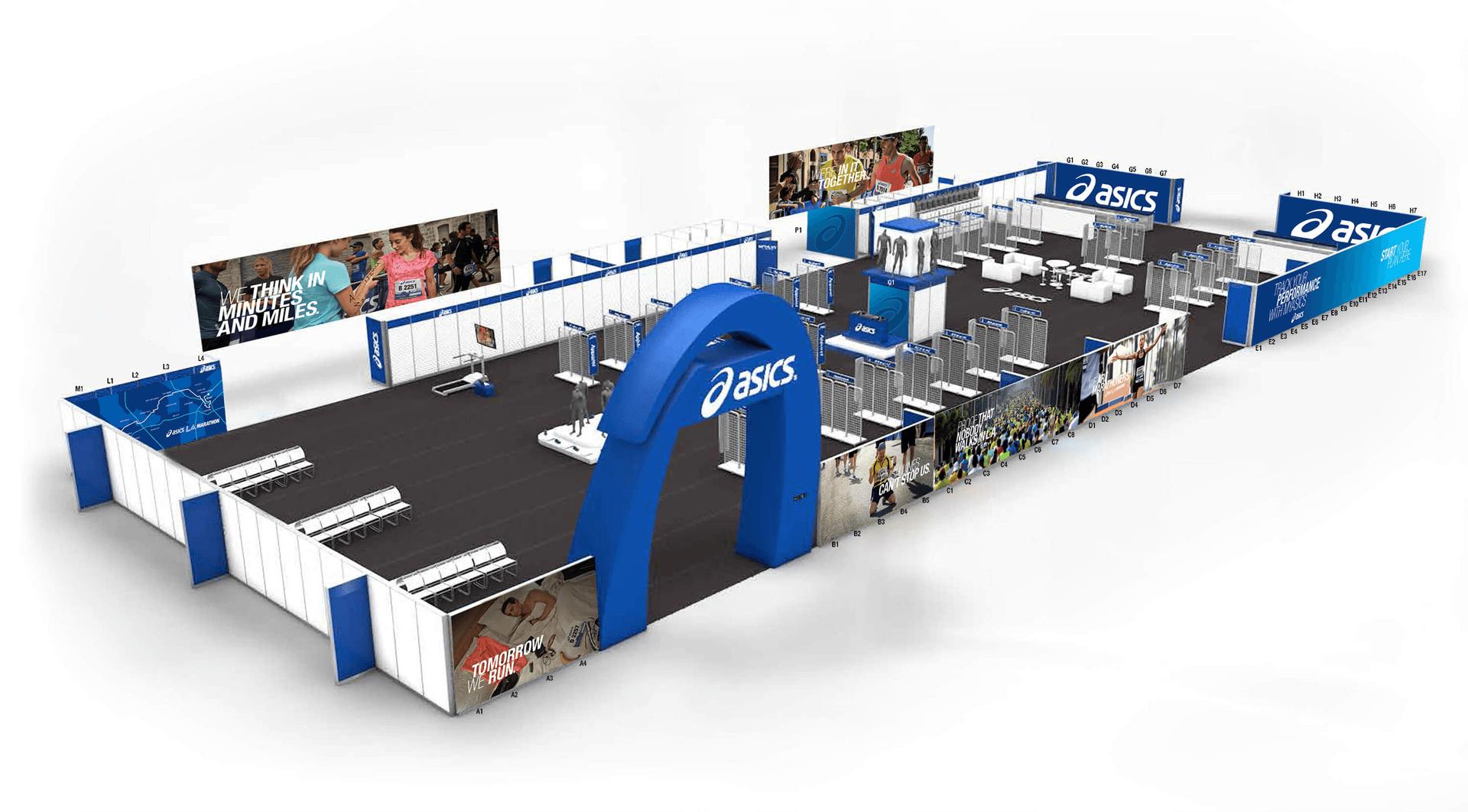 ASICS image of brand booth mockup