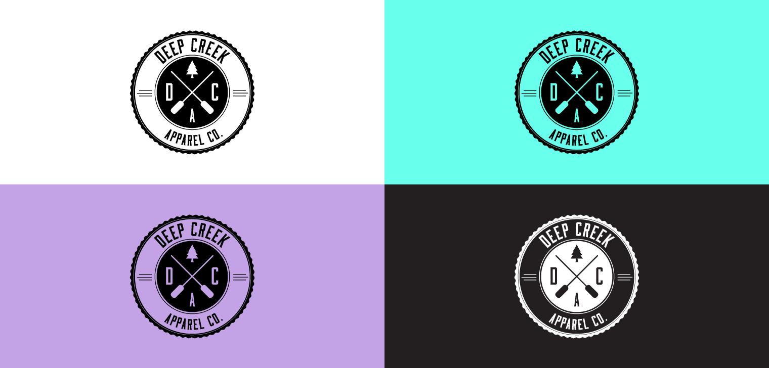 Deep Creek Apparel logo variations