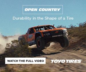 Toyo Tires baja truck digital ad