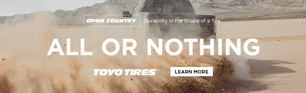 Toyo Tires All or Nothing digital ad truck
