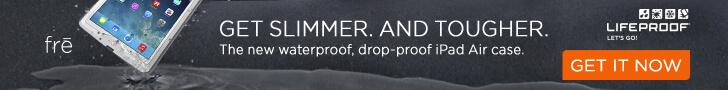 Lifeproof horizontal digital ad Gym ipad