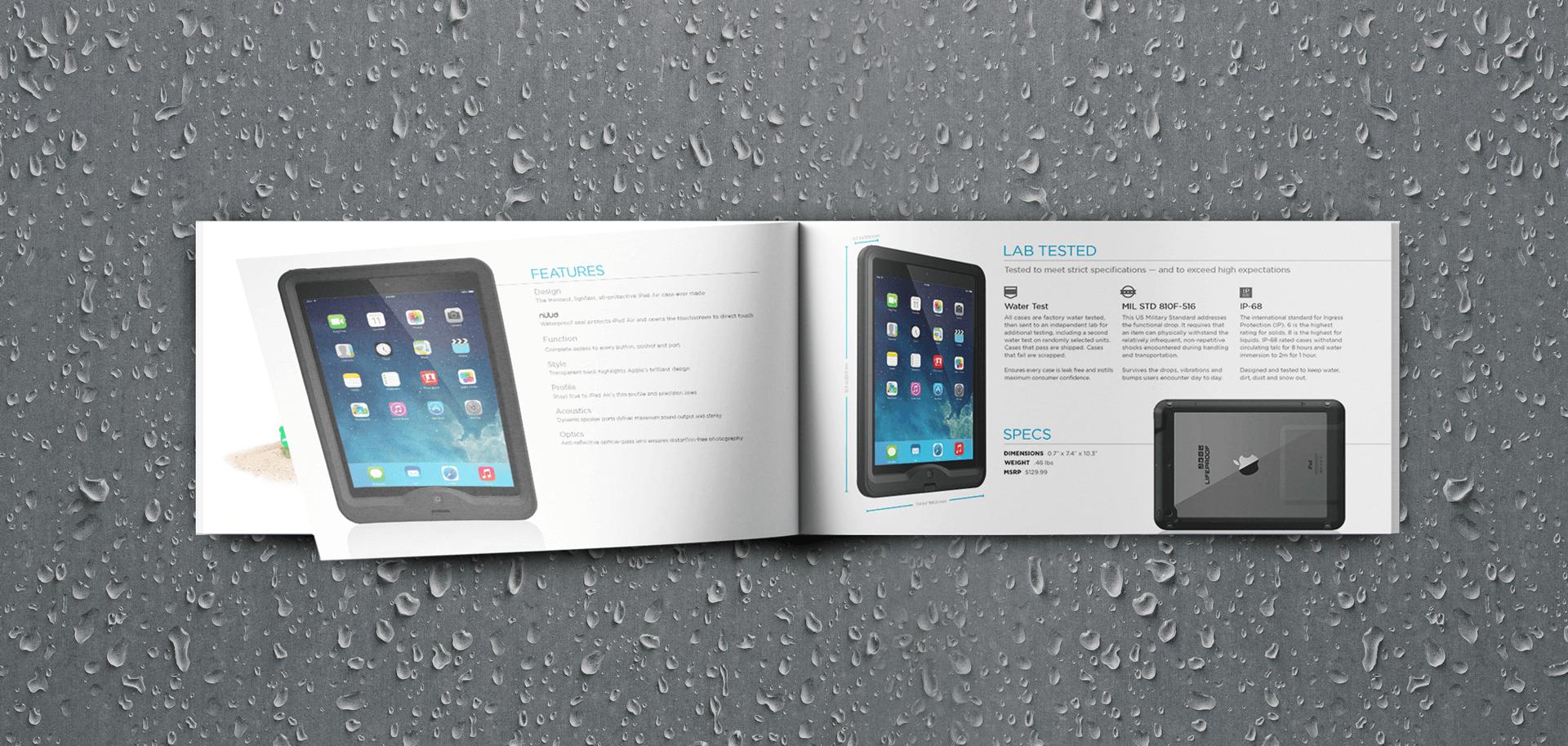 Lifeproof product brochure mockup