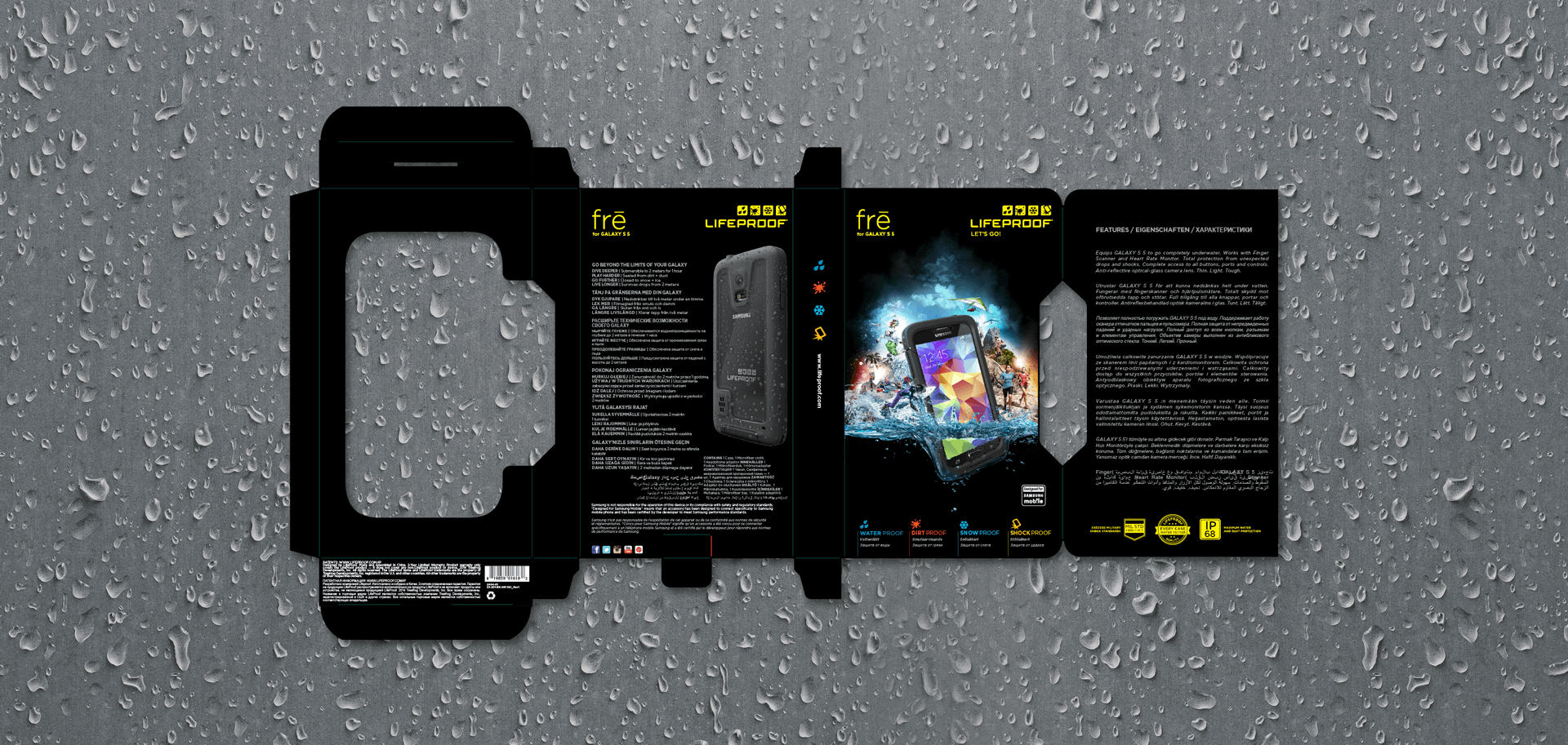 Lifeproof product packaging design
