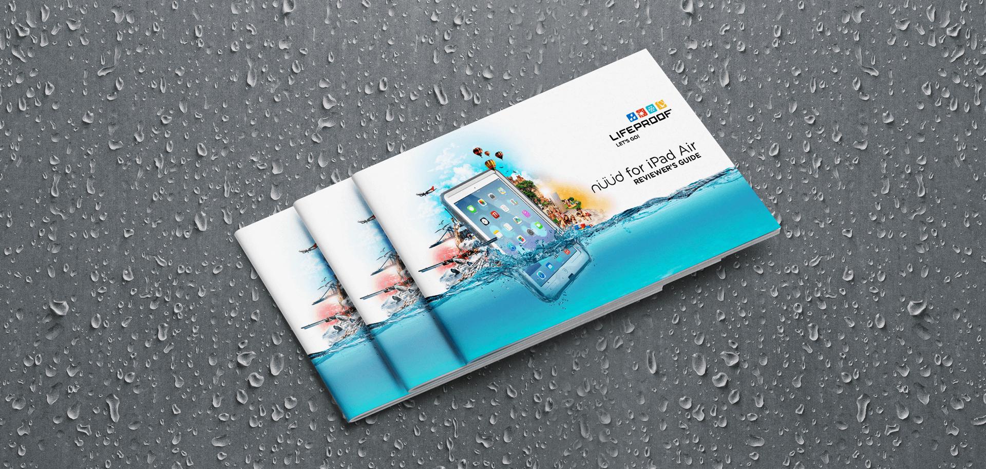 Lifeproof product brochure cover mockup