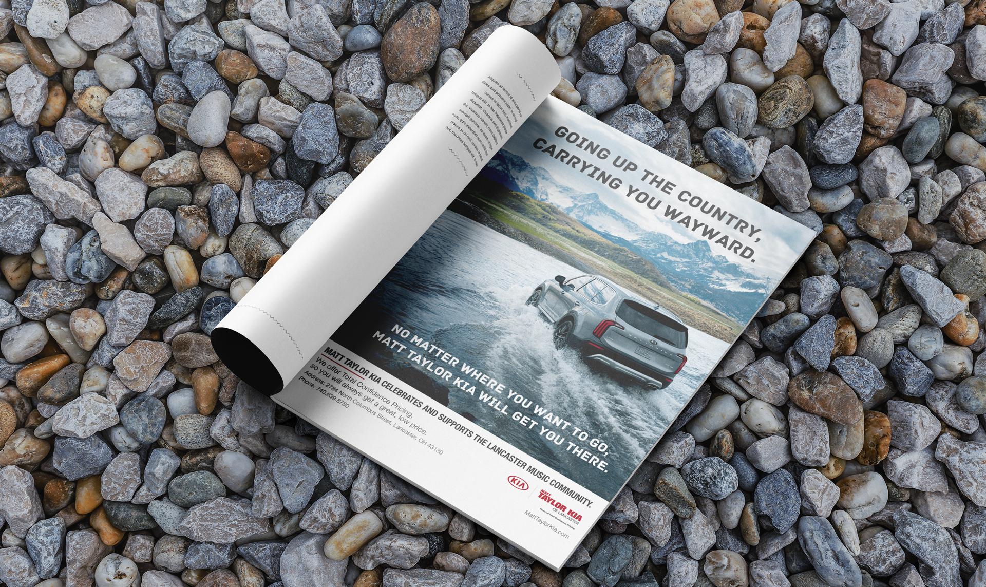 Matt Taylor Kia print ad design