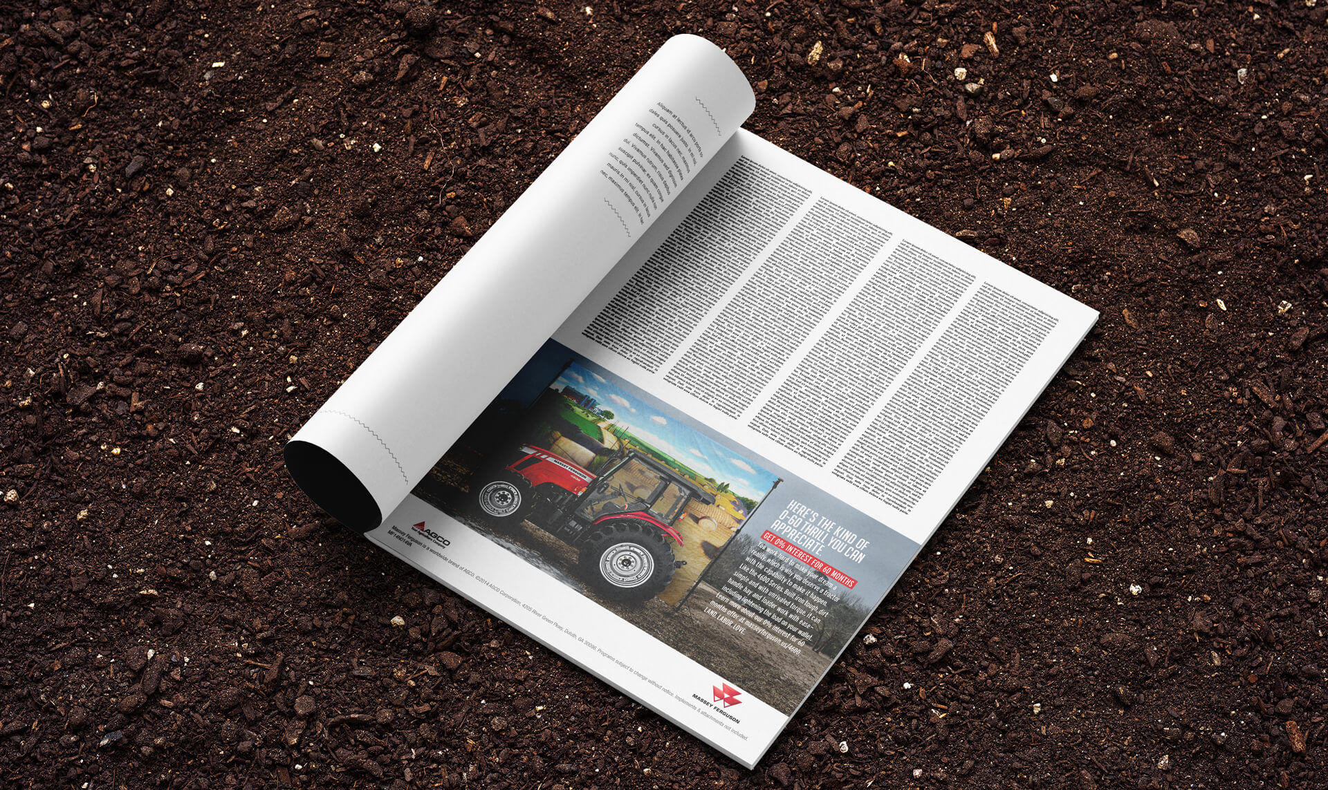 Massey Ferguson print ad mockup