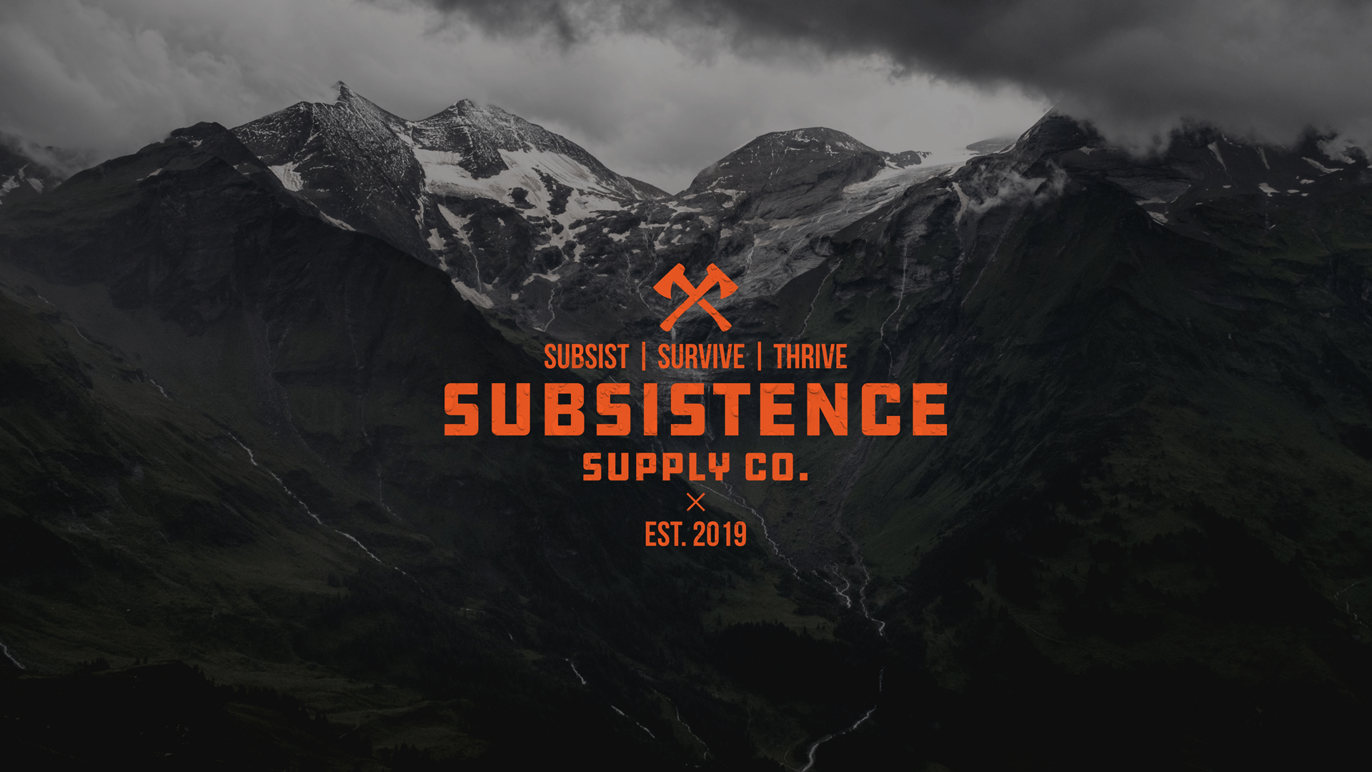 Subsistence Supply Company cover image featuring the logo and bold mountain backdrop