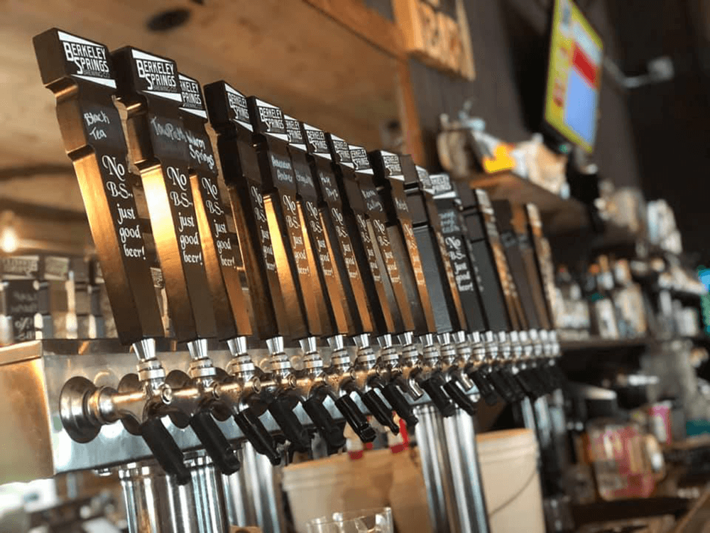 berkeley springs brewing company beer taps