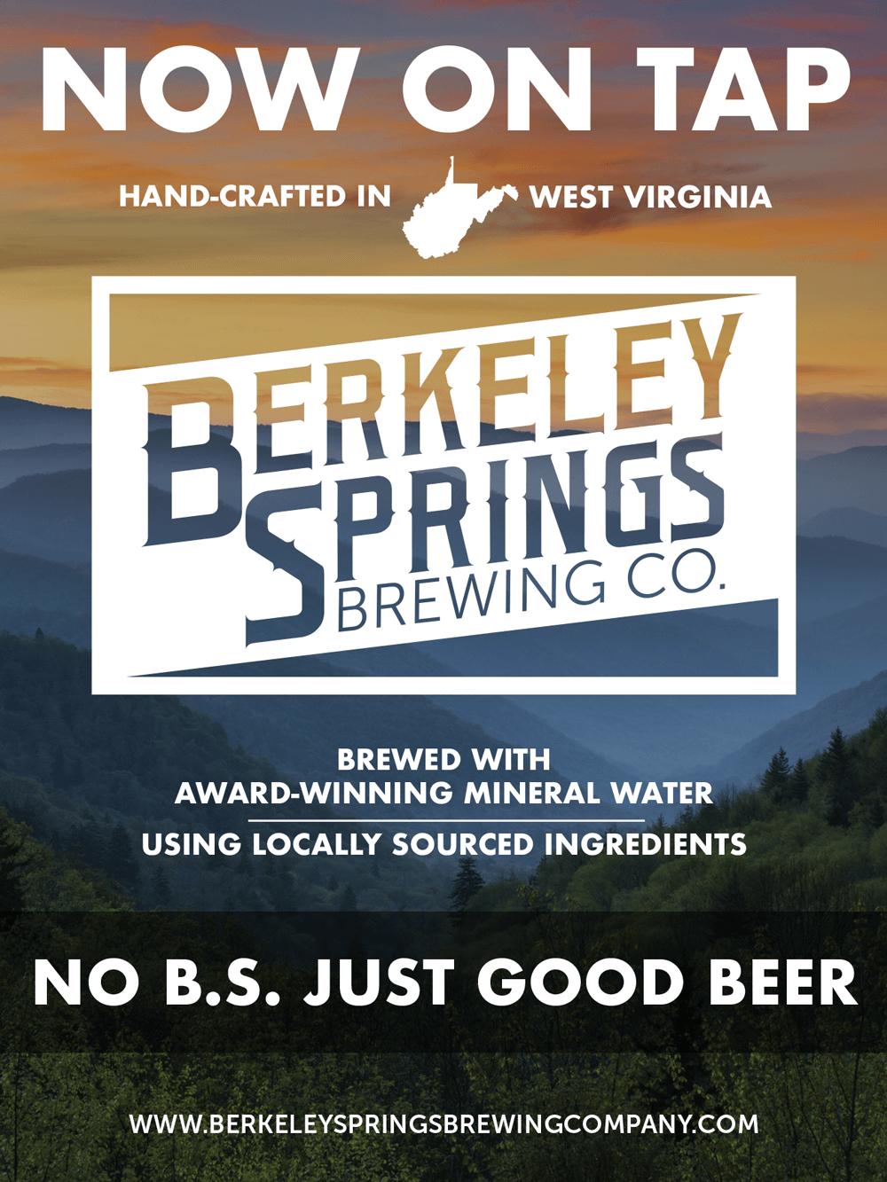 berkeley springs brewing company poster design