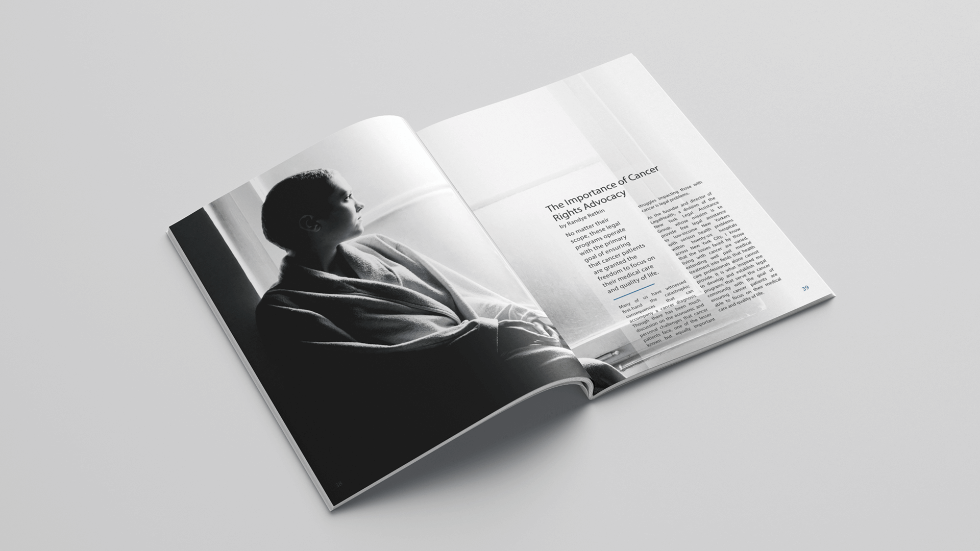 Disability Rights Legal Center Booklet spread mockup