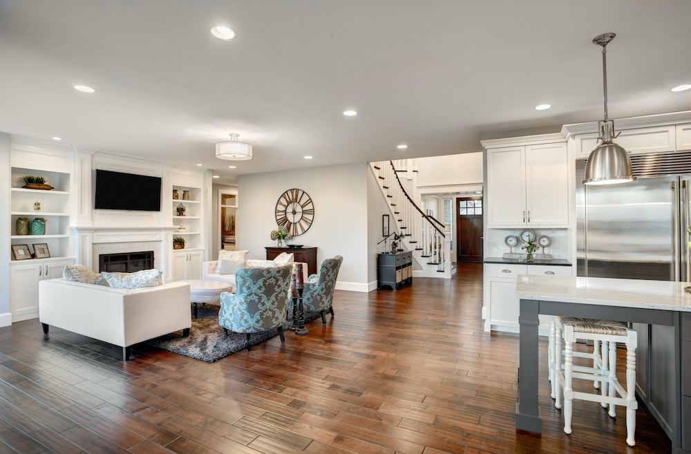 Interior Kitchen and Living Room