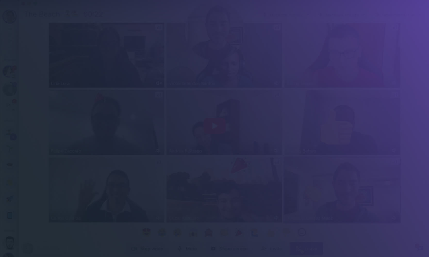 Video background placeholder
