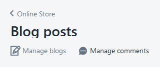 Hit Manage Blogs