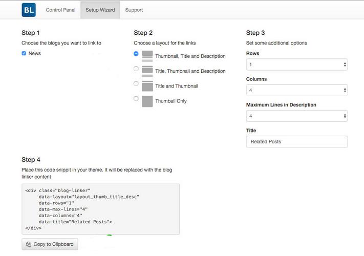 Blog Linker Steps