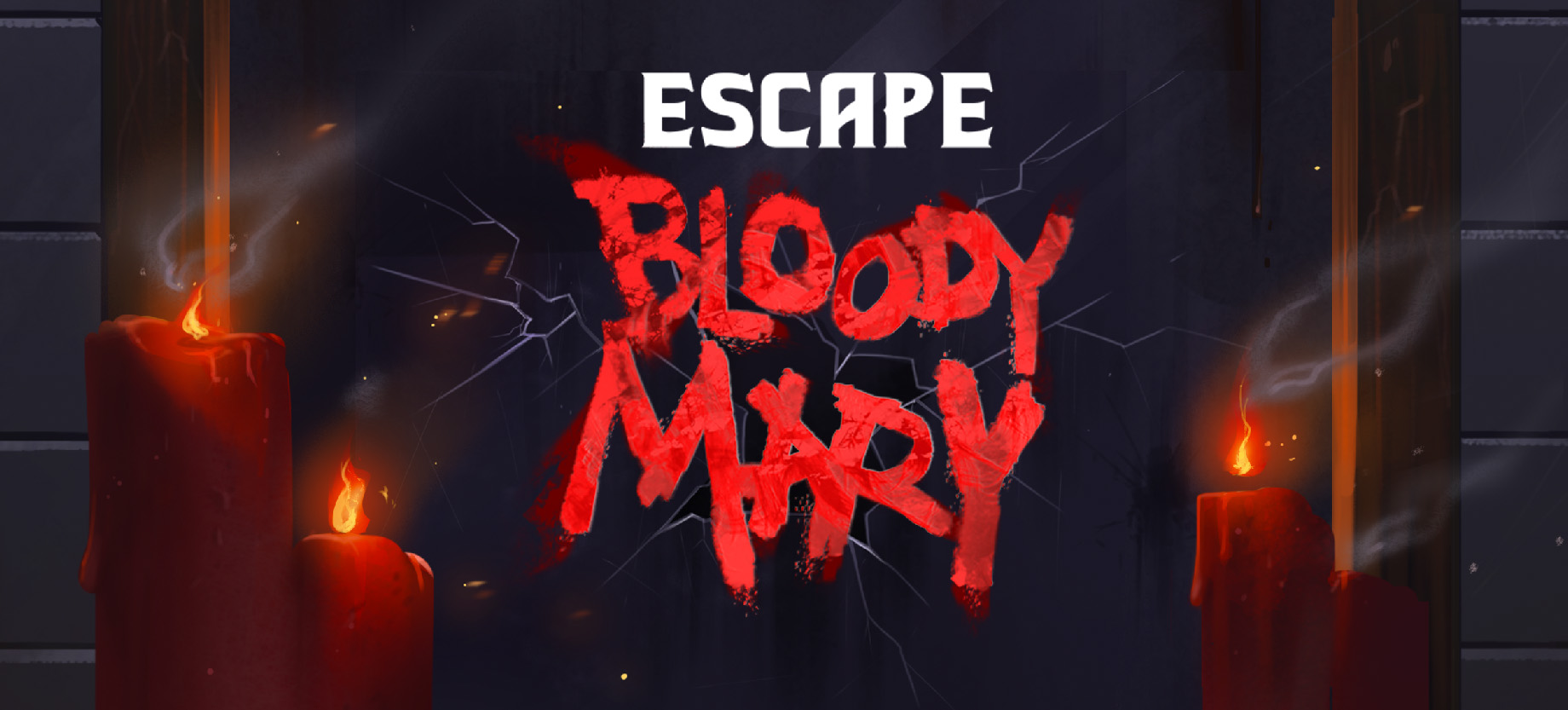 A banner image showing candles and the logo for the game Escape Bloody Mary