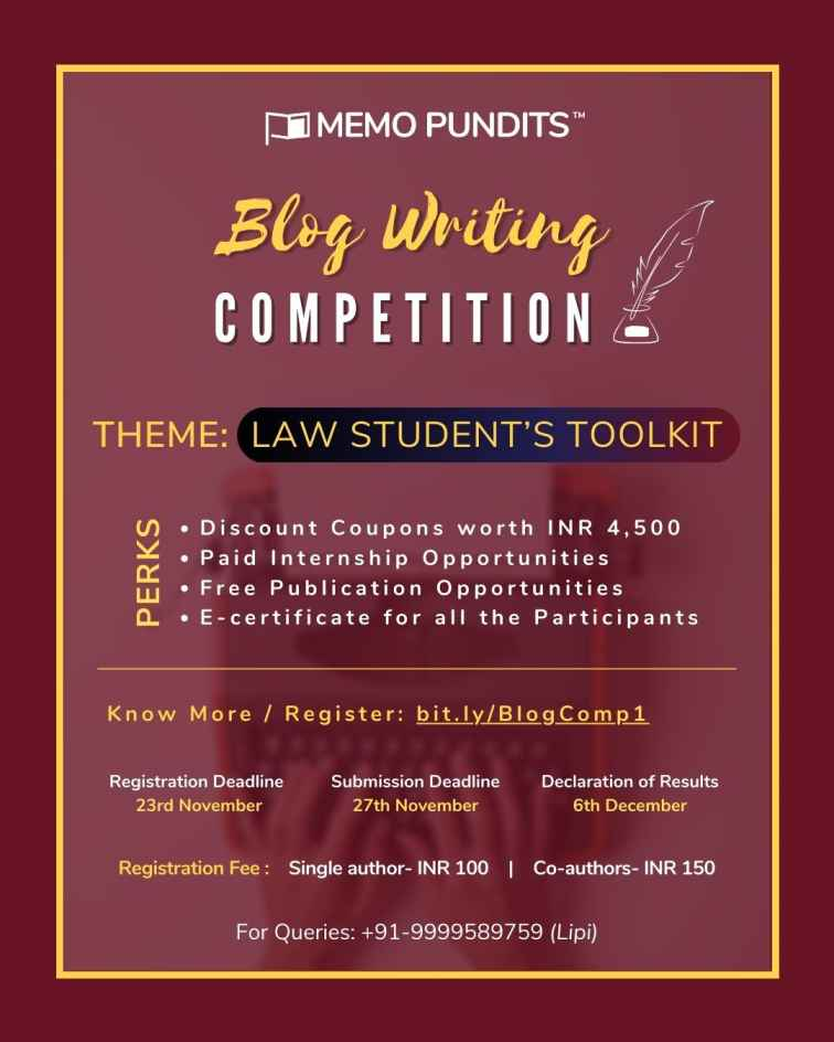 Blog Writing Competition by Memo Pundits