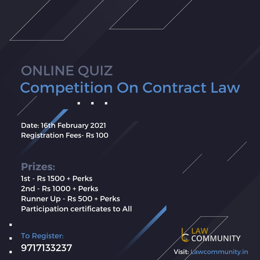 Quiz Competition on Contact Law