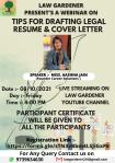 """Law Gardner Present's Webinar on """" Tips for Drafting Legal Resume & Cover Letter"""""""